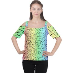 A Creative Colorful Background Women s Cutout Shoulder Tee