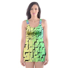 A Creative Colorful Background Skater Dress Swimsuit