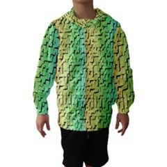A Creative Colorful Background Hooded Wind Breaker (Kids)