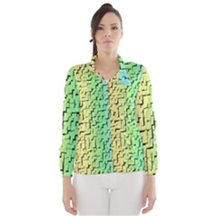 A Creative Colorful Background Wind Breaker (women)