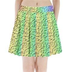 A Creative Colorful Background Pleated Mini Skirt