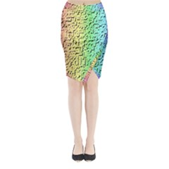 A Creative Colorful Background Midi Wrap Pencil Skirt
