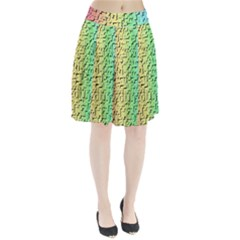 A Creative Colorful Background Pleated Skirt