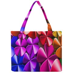Colorful Flower Floral Rainbow Mini Tote Bag