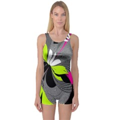 Abstract Illustration Nameless Fantasy One Piece Boyleg Swimsuit