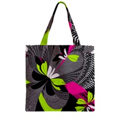 Abstract Illustration Nameless Fantasy Zipper Grocery Tote Bag