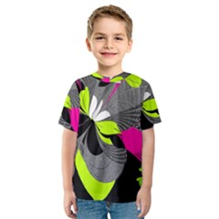 Abstract Illustration Nameless Fantasy Kids  Sport Mesh Tee