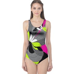 Abstract Illustration Nameless Fantasy One Piece Swimsuit