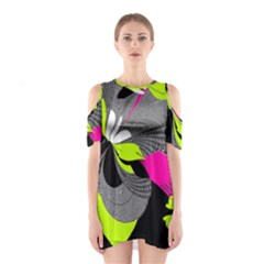 Abstract Illustration Nameless Fantasy Shoulder Cutout One Piece