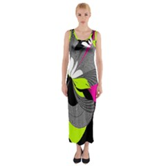 Abstract Illustration Nameless Fantasy Fitted Maxi Dress