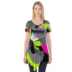 Abstract Illustration Nameless Fantasy Short Sleeve Tunic