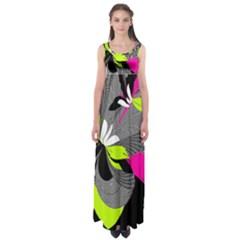 Abstract Illustration Nameless Fantasy Empire Waist Maxi Dress
