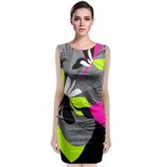 Abstract Illustration Nameless Fantasy Classic Sleeveless Midi Dress