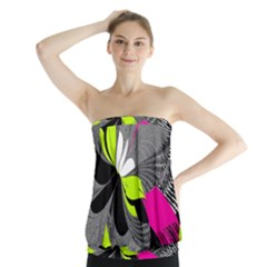 Abstract Illustration Nameless Fantasy Strapless Top