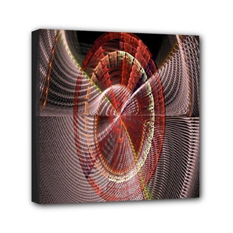 Fractal Fabric Ball Isolated On Black Background Mini Canvas 6  x 6