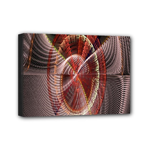 Fractal Fabric Ball Isolated On Black Background Mini Canvas 7  x 5