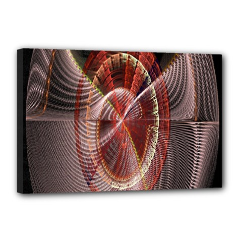 Fractal Fabric Ball Isolated On Black Background Canvas 18  X 12