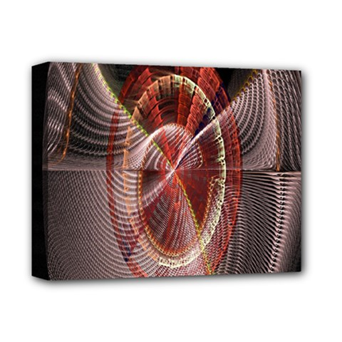 Fractal Fabric Ball Isolated On Black Background Deluxe Canvas 14  x 11