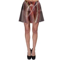 Fractal Fabric Ball Isolated On Black Background Skater Skirt