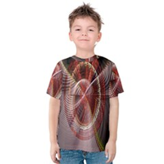 Fractal Fabric Ball Isolated On Black Background Kids  Cotton Tee