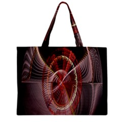 Fractal Fabric Ball Isolated On Black Background Mini Tote Bag