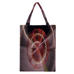 Fractal Fabric Ball Isolated On Black Background Classic Tote Bag