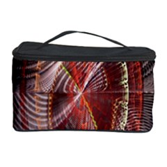 Fractal Fabric Ball Isolated On Black Background Cosmetic Storage Case