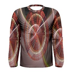 Fractal Fabric Ball Isolated On Black Background Men s Long Sleeve Tee