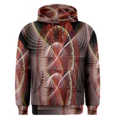 Fractal Fabric Ball Isolated On Black Background Men s Pullover Hoodie