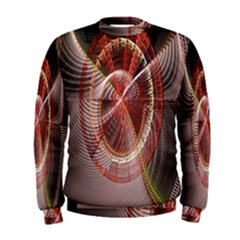 Fractal Fabric Ball Isolated On Black Background Men s Sweatshirt