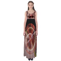 Fractal Fabric Ball Isolated On Black Background Empire Waist Maxi Dress