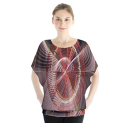 Fractal Fabric Ball Isolated On Black Background Blouse