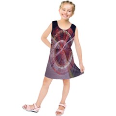 Fractal Fabric Ball Isolated On Black Background Kids  Tunic Dress