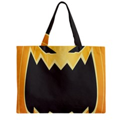 Halloween Pumpkin Orange Mask Face Sinister Eye Black Mini Tote Bag