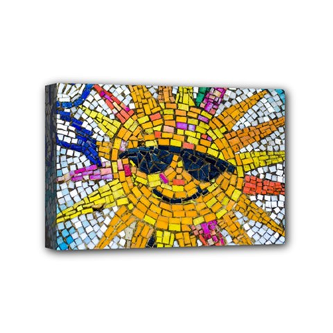 Sun From Mosaic Background Mini Canvas 6  x 4