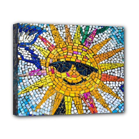 Sun From Mosaic Background Canvas 10  x 8