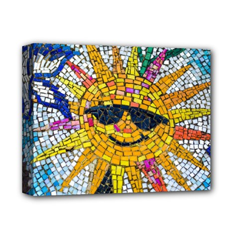 Sun From Mosaic Background Deluxe Canvas 14  x 11
