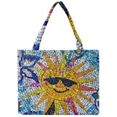Sun From Mosaic Background Mini Tote Bag