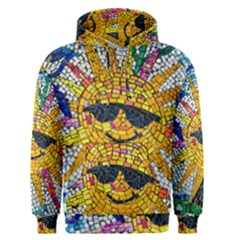 Sun From Mosaic Background Men s Pullover Hoodie