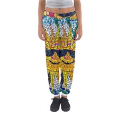 Sun From Mosaic Background Women s Jogger Sweatpants
