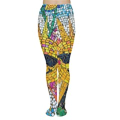 Sun From Mosaic Background Women s Tights