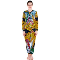 Sun From Mosaic Background Onepiece Jumpsuit (ladies)