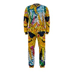 Sun From Mosaic Background Onepiece Jumpsuit (kids)