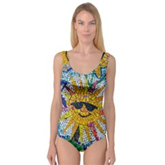 Sun From Mosaic Background Princess Tank Leotard