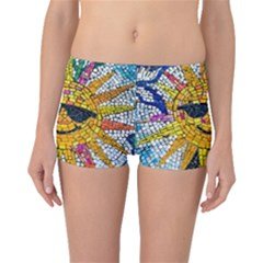Sun From Mosaic Background Boyleg Bikini Bottoms