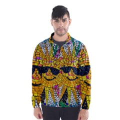 Sun From Mosaic Background Wind Breaker (Men)