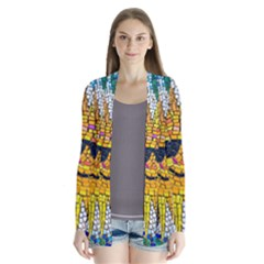 Sun From Mosaic Background Cardigans