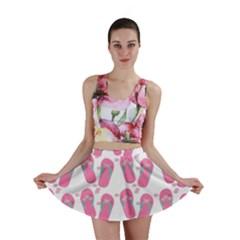 Flip Flops Flower Star Sakura Pink Mini Skirt