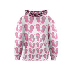 Flip Flops Flower Star Sakura Pink Kids  Pullover Hoodie