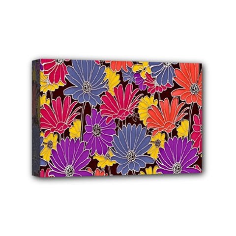 Colorful Floral Pattern Background Mini Canvas 6  x 4
